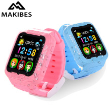 Makibes Kids K3 Smart GPS Watch Overall Waterproof MTK2503 children Security GPS Tracker GPS Watch phone with Camera MP3