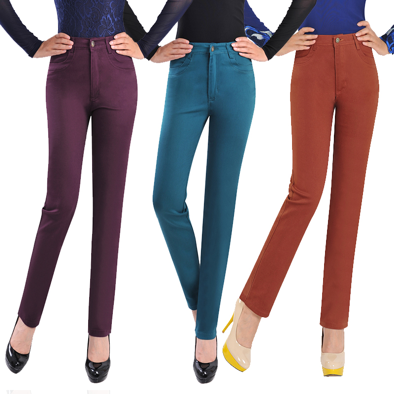 New Candy Colores Women Pants Fashion Cheap Clothes China Cotton Denim High Waist True Skinny Jeans Woman Pants Clothing.Одежда и ак�е��уары<br><br><br>Aliexpress