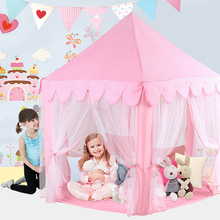 Portable Children Kids Play Tents Outdoor Garden Folding Toy Tent Pop Up Kids Girl Princess Castle Outdoor playhouse Kids Tent(China)