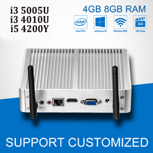 Mini PC Windows 7 Intel Core i3 5005U 4010U i5 Mini Computer 4200Y Fanless Office Desktop Computer With WIFI NIC HTPC HDMI(China)