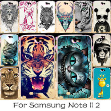 TAOYUNXI Plastic Phone Case For Samsung Galaxy Note 2 Note II N7100 Hosuing Cover N7105 Note2 NoteII 7100 Housing Bag Shell Case(China)
