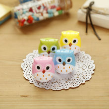 2PCS Creative Cute Owl Pencil Sharpener Cutter Knife Promotional Gift Stationery For Students