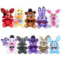 25cm FNAF Game Five Nights at Freddy's Funtime Foxy Mangle Chica Nightmare Bonnie Sister Location Freddy Bear Plush Doll Toy