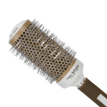 Temperature Color Change Ceramic Iron Radial Round Hairdressing Barrel Curler Brushes Comb Professional Hair Salon Styling