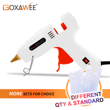 GOXAWEE Hot Melt Glue Gun Mini Professional High Temp Graft Repair Tool Electric Heat Gun DIY Thermo Tool With 10pcs Glue Sticks(China)