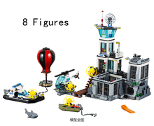 Compatible With Lego 815pcs City Police PRISON ISLAND Building Blocks Police Figures Model Bricks Toys Gift 02006 60130(China)