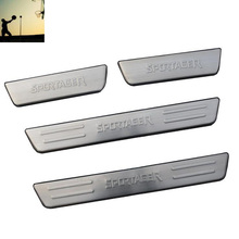 car-styling ACCESSORIES FIT FOR 2010 2011 2012 2013 2014 Kia sportager Aluminium Door Scuff Sill Plates car styling(China)