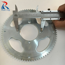 25H 55T 65T 80T Tooth Sprocket Chain Wheel 114mm 133mm 164mm DIA For Pocket Bike Mini ATV Quad E-scooter Bicycle Moto Bike Part(China)