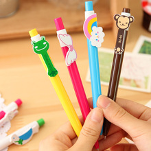 6PCS/LOT GENKKY Stationery wholesale cartoon ball pen animal wings rainbow pen 6 kinds of styles