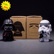 ZHAOKAOFEI 10cm 2pcs/lot Q Style Star War Darth Vader & STORM TROOPER Action Figure Model Toy Come with Retail Box
