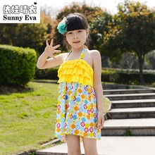 sunny evaTWO-pieces swimsuit Printed kids swimming suits for girls Swimsuit children swimwear girls swimming wear kids swim wear(China)