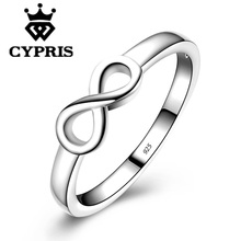 HOT 6 7 8 9 10 Full Size Silver Love romance Infinity hot fashion Ring Party simple forever gift  infinite Valentine's Day 925