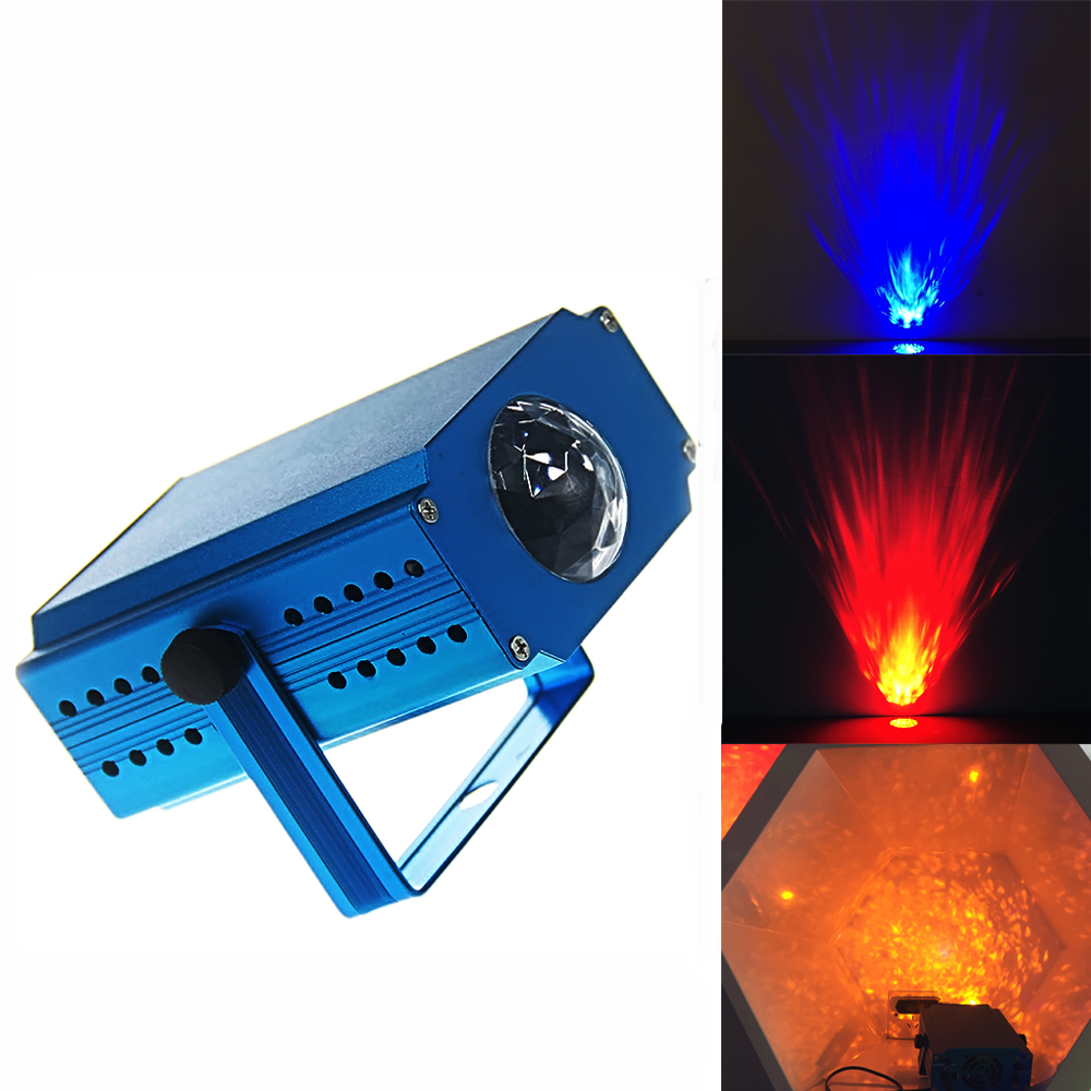 mini Led Laser Stage Lighting Portable Ocean Moving Waves Effect Projector Lighting Christmas dj Party Show Club Bar Pub Wedding<br>
