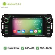 Quad Core Android 5.1.1 DAB+ FM Car DVD Player Radio Stereo Screen For Jeep Compass Commander Grand Cherokee Wrangler DODGE RAM