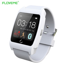 FLOVEME D6 Brand New Bluetooth Smart Watch Sport Health Tracker Android IOS Phone Smartwatch Digital Time Sync Wristband Relojes