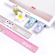 A01 1X Cute Totoro 18cm Soft Foldable Magnet Straight Ruler Measuring Study Drawing Tool Student Stationery School Office Supply