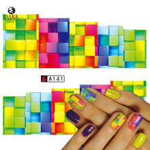 Nail Salon 1PCS Water Transfer Nails Sticker Colorful Oil Painting Design Nails Foil Sticker Decor Decals SAA141