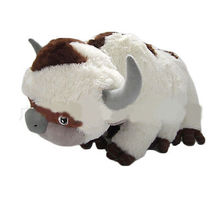 16 inch Big Size Anime Kawaii Avatar the Last Airbender Appa & Tiger Soft Stuffed Plush Toys Doll