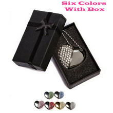 6 Colors Metal heart pendrive 4GB 8GB 16GB 32GB 64GB Diamond Heart USB 2.0 Flash Drive Memory Stick with a nice Gift Box