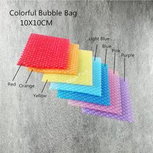 10*10cm (3.94*3.94') 50Pcs New Heart-shaped Bubble Bags Inflatable Bag Foam Wrap For Packing Material Gift Decoration(China)