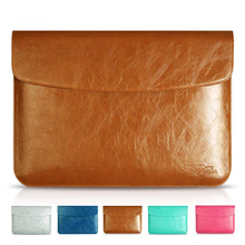 Excellent PU Leather Laptop Sleeve 11 For Apple Computer Bags For MacBook Air 13.3 15 Vertical Case Laptop Bags With Small Bag