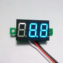 10PCS/LOT Blue  LED digital voltmeter car motor motorcycle battery monitor dc volt voltage panel meter  DC 0-100V B0009-10