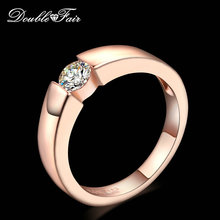 Cubic Zirconia Engagement/Wedding Rings Silver/Rose Gold Color Fashion Crystal Ring Jewelry For Women Wholesale DFR400 DFR406