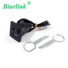 2 in 1 AUX USB Slot Button Switch with Car Stereo Removal Key Tools For Ford Focus (NOT FIT FOR SONY 6000 CD)(China)