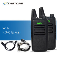 2pcs/lot WLN KD-C1 Black Walkie Talkies UHF 400-470 MHz Ham Radio Handheld Transceiver kd-c1 CB Radio Portable Walkie-talkies