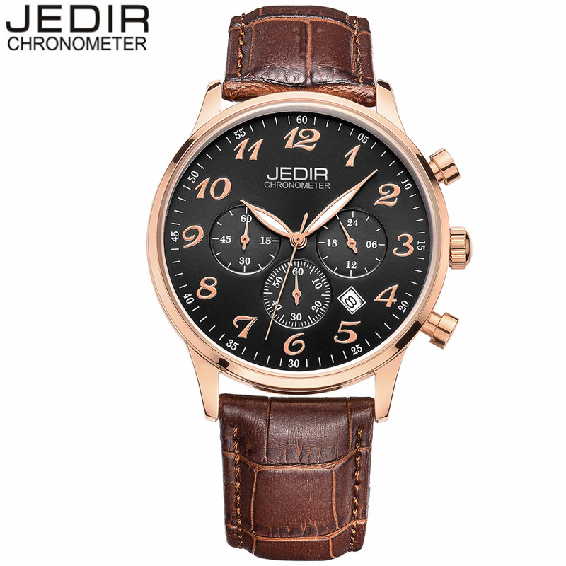 JEDIR Mens Watches Luxury Military Chronograph Quartz Watch Men Fashion Casual Leather Wristwatch Waterproof relogio masculino<br><br>Aliexpress