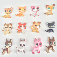 3pcs/lot LPS toys animal pet short hair cat collie great dane dachshund cocker spaniel dog random 3 pieces free shipping