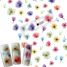 1 Sheets DIY Purple/Green/Red Flower Blossom 3D Nail Designs Women Nails Tips Decals Nail Art Sticker TRF022