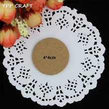 YPP CRAFT 4cm Kraft Paper Gift Cards/Tags for Wedding Party Favor Gift Decoration Scrapbooking Paper Crafts(China)