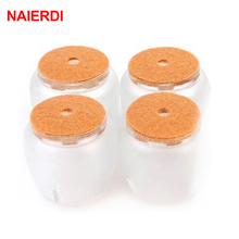 NAIERDI 8pcs Round Chair Leg Cups Feet Protector Pads Furniture Table Covers Bottom Non Slip Caps For Chairs Home Decor Hardware(China)