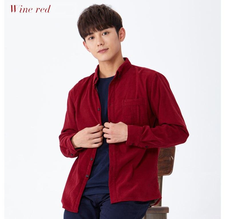 corduroy wine shirt wine red 02