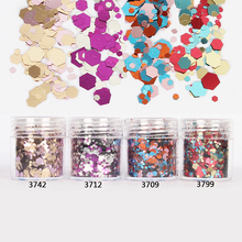 10ml/Box Glitter Tips Pink Rose Red Colorful 1mm & 2mm & 3mm Mixed Powder Nail Decoration