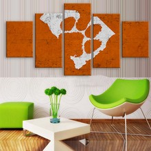 5 Panel Clemson Tigers Sports Team Logo Modern Home Wall Decor Canvas Picture Art HD Print Painting On Canvas For Living Room