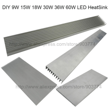 DIY High Power LED aluminum Heatsink  radiator heat sink DIY 9W 15W 18W 30W 60W aquarium led light, diy led grow light