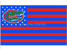 Florida Gators with us stars stripes 3ftx5ft Banner 100D Polyester Flag metal Grommets NCAA flag 90x150cm(China)