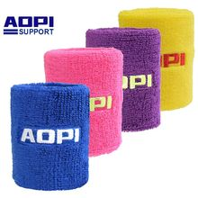 Buy AOPI 1 PCS 12 Colors Men Women Authentic Long Wrister Purified Cotton Tower Sport Basketball Tennis Protector Bracer Sweatband for $10.80 in AliExpress store