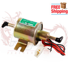 Free Shipping  12V 8mm Pipes Car Boat Diessel / Petrol HEP-02A Set Metal Electric Fuel Pump