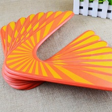 outdoor wood boomerang dart frisbee kids toy high intensity v shaped flying funny saucer throw catch children game gift toys(China)