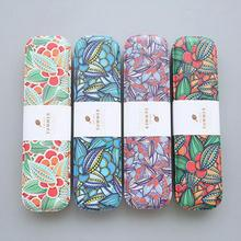 1 PCS Korean Flowers Floral Pencil Case metal Big Capacity Pencil Bag Multifunction High Quality Pencil Box Free Shipping(China)