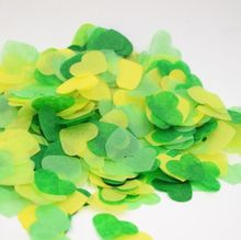 50g Mixed Heart tissue confetti Hawaii Theme Party Tropical Wedding Confetti Kid Birthday Supplies-38mm
