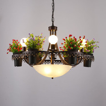 American style new plants flowerpots Pendant Lights creative living rooms coffee shops bar Iron lamps LU808167(China)
