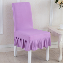 Wholesale Solid Color Spandex Stretch Restaurant Hotel Chair Coverings Wedding Chair Covers(China)