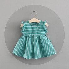 Girls Summer Dress Baby Girl Clothes Vestidos 2018 Kids Dresses Girls Costume Stripped Children Princess Clothing