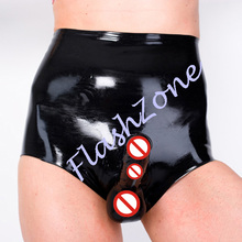 Buy Free shipping!! Men latex short pants condom