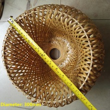 Original Bamboo Wicker Rattan Lampshade Hand-Woven double layer bamboo dome lampshade Asian Rustic Japanese Lamp Design(China)