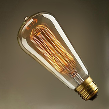 Retro ST64 Edison Light Incandescent Bulbs Vintage Tungsten Lamp 110V/240V 60W E27 Dimmable Antique Decorate Lights
